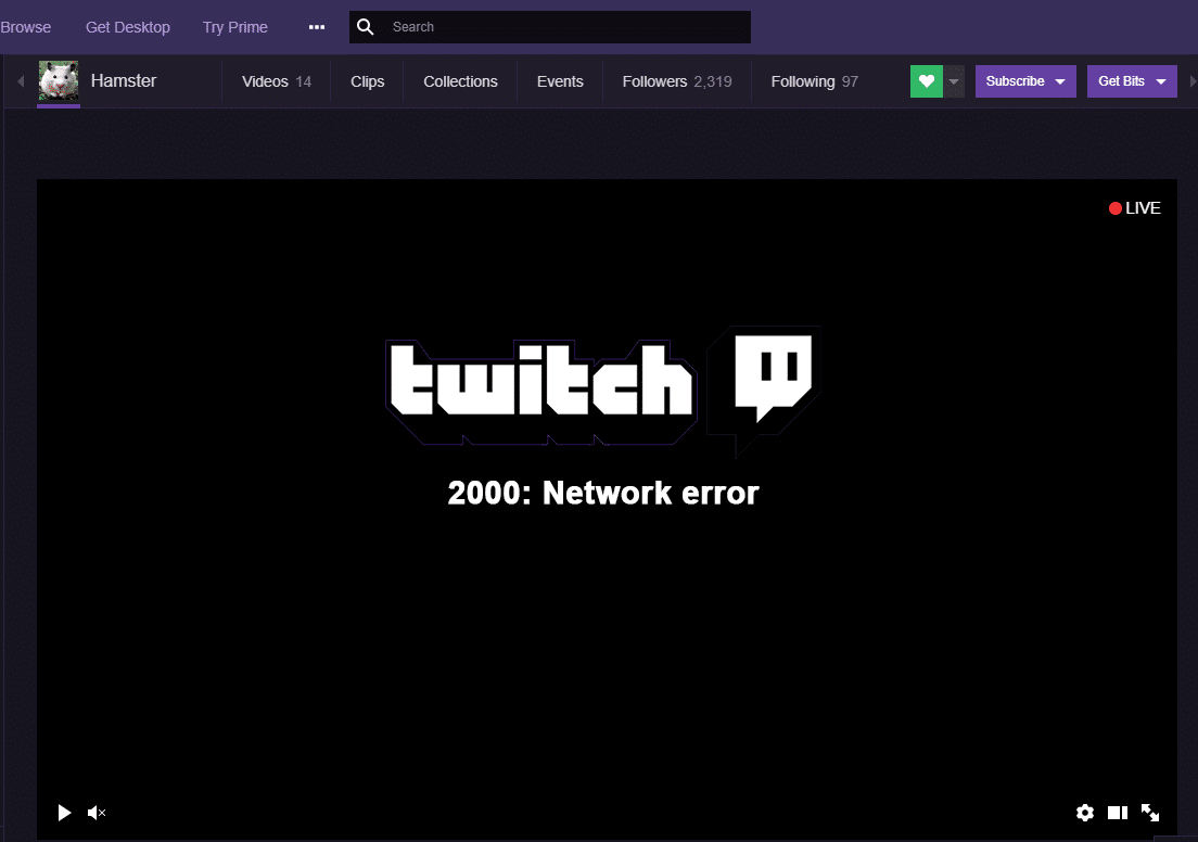 How to Fix 2000 Network Error on Twitch