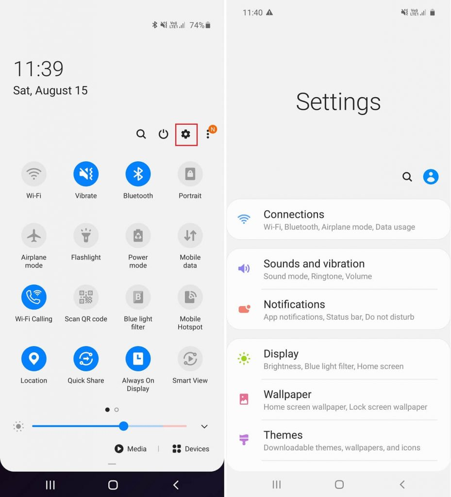 How to Access Android Settings Menu