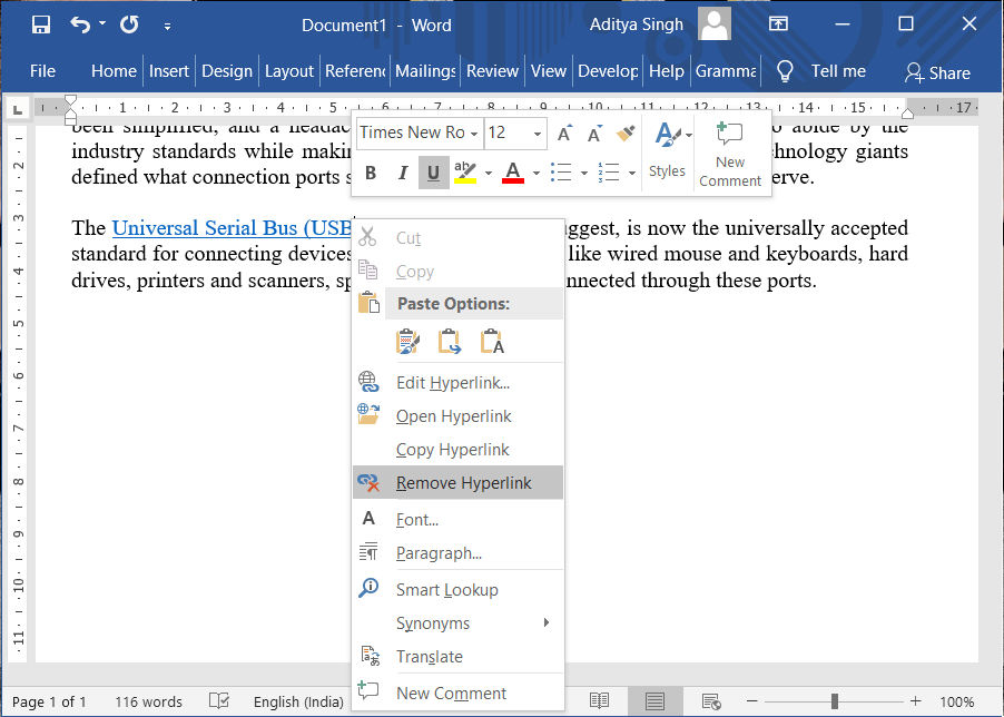 5 Ways to Remove Hyperlinks from Microsoft Word Documents